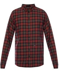 DSquared² Checked Shirt - Red