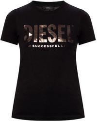 DIESEL T-shirt With Logo - Black