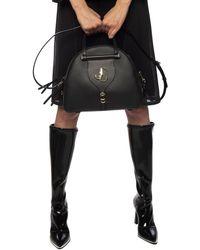 Jimmy Choo Varenne Small Bowling Bag - Black