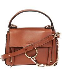 Chloé 'faye' Shoulder Bag - Brown