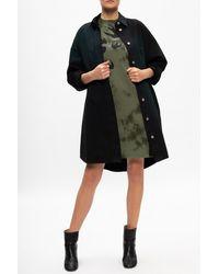 McQ Camo Pattern Dress Green