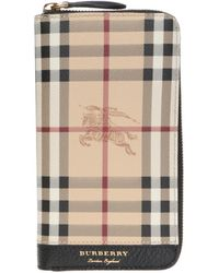 Burberry - Checked Wallet - Lyst