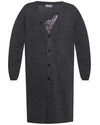 Yohji Yamamoto Wool Cardigan - Grey