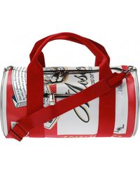Moschino Printed Duffel Bag - Red