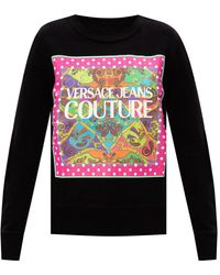Versace Jeans Couture Sweatshirt With Logo - Black