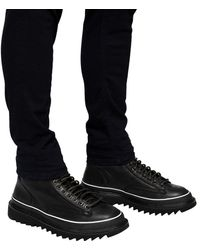 DIESEL 'h-shiroki Dmbb' Platform Boots Black