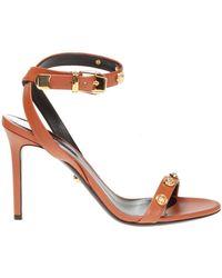 Versace - Medusa Head Stiletto Sandals - Lyst
