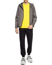 K-Way Rain Jacket With Logo Grey