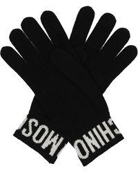 Moschino Logo Gloves Black