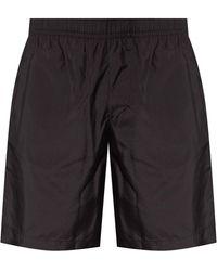 Givenchy Swim Shorts With Logo - Black