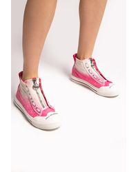 DIESEL 's-astico Zip' Trainers - Pink