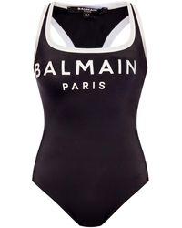 Balmain Body With Logo - Black