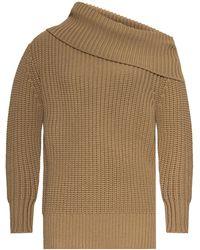Michael Kors - Knitted Turtleneck Sweater Beige - Lyst