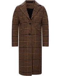 AllSaints 'jette' Tweed Coat Brown
