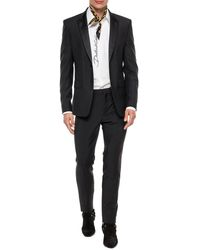 Dolce & Gabbana Cotton Gold-fit Tuxedo Shirt With Embroidery - White