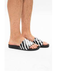 Off-White c/o Virgil Abloh Spray Stripe Slide - Black
