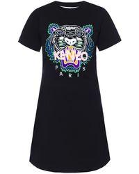 KENZO - Tiger Motif Dress - Lyst