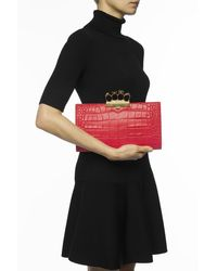 Alexander McQueen Knuckle-duster Clutch - Red