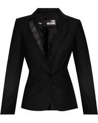 Love Moschino Blazer With Logo - Black