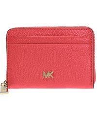 Michael Kors Wallet With Metal Logo - Orange