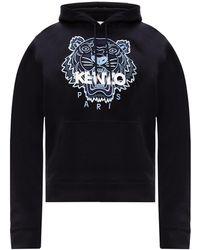 KENZO Branded Hoodie Black