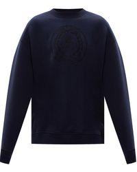 Acne Studios Sweatshirt With Logo - Blue