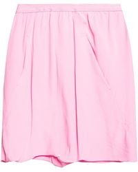 Rick Owens Shorts With Gathers Pink