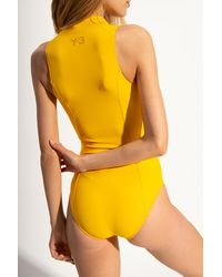 Y-3 One-piece Swimsuit Yellow