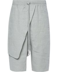 Lost & Found - Dropped Crotch Shorts - Lyst