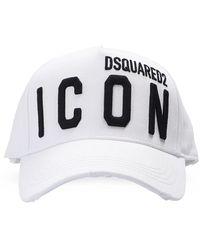 DSquared² Branded Baseball Cap Unisex White