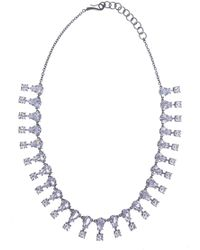 Bottega Veneta - Silver Necklace With Zirconias - Lyst