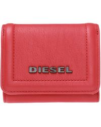 DIESEL Wallet With A Raised Logo - Red