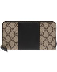Gucci - 'GG Supreme' Canvas Wallet - Lyst