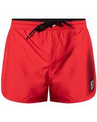 DIESEL Swim Shorts With Logo - Red