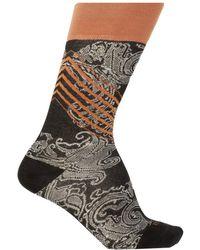 Etro Paisley Motif Socks - Black