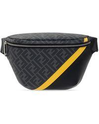 Fendi Belt Bag With Logo - Black