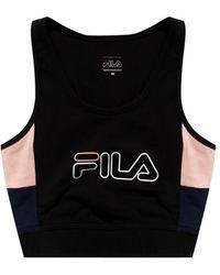 Fila Training Top With Logo Black