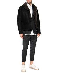 AllSaints 'garrick' Shearling Jacket Black