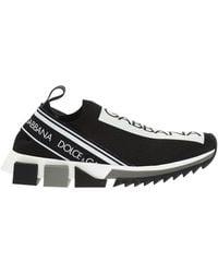 Dolce & Gabbana 15mm Sorrento Knit Trainers - Black