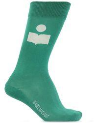 Isabel Marant Socks With Logo - Green