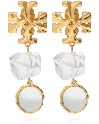 Tory Burch Clip-on Earrings Gold - Metallic