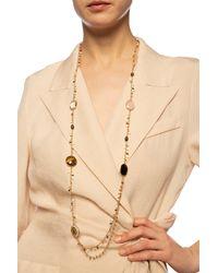 Gas Bijoux 'serti Pondicherie' Necklace Gold - Metallic