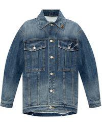 Givenchy Denim Jacket With Logo - Blue