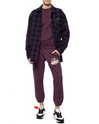 Off-White c/o Virgil Abloh Diagonal Tape Arrows Sweatshirt - Purple