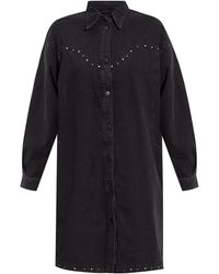 AllSaints 'izzy' Shirt Dress Black
