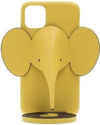 Loewe Elephant Leather Iphone 11 Pro Max Case - Yellow