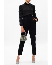 RED Valentino High-waisted Trousers - Black