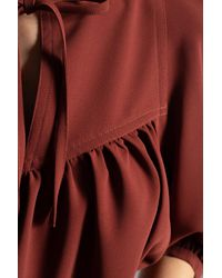 See By Chloé Top With Puff Sleeves Burgundy - Brown