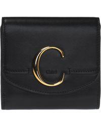 Chloé Branded Wallet - Black