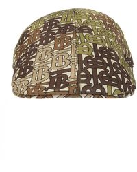 Burberry Branded Flat Cap - Natural